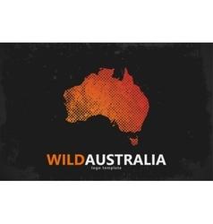 Grunge Australia logo Australia logo design Wild vector