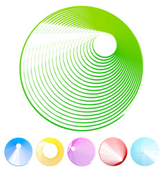 Grunge circle set - colorful circles vector