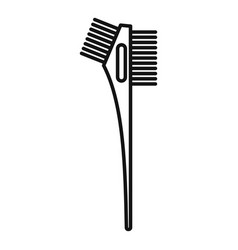 Hair dye professional brush icon outline style vector