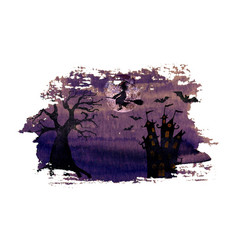 halloween dark purple night background vector image