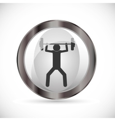 health and fitness design vector image vector image