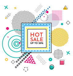 Hot sale special offer with inscription up to 20 vector