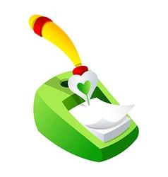icon memo and pen vector image