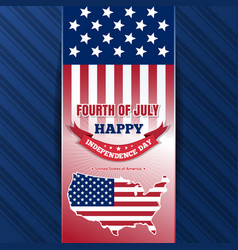 Independence day background with us flag vector