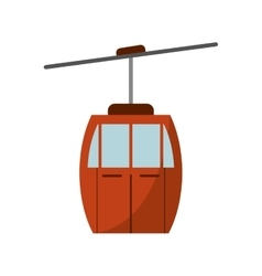 Isolated cable car vehicle design vector