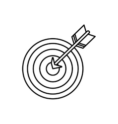 Isolated dartboard target vector