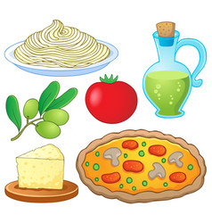 italian food collection 1 vector image