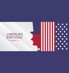 Lincolns birthday holiday background vector
