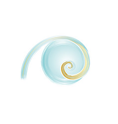 Logo water gold swirl vector