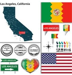 Los Angeles California set vector image
