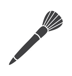 Makeup brush glyph icon vector