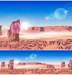 Martian landscape vector
