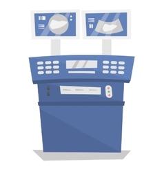 Medical ultrasound equipment vector image