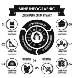 Mine infographic concept simple style vector