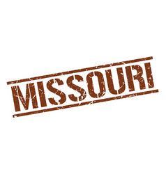 Missouri brown square stamp vector