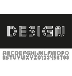 Modern designer linear font trendy english vector