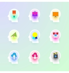 Modern flat icons collection vector