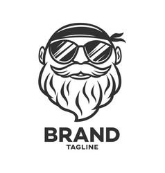 modern logo biker men vector image