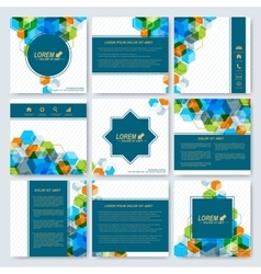 Modern templates for square brochure cover vector image