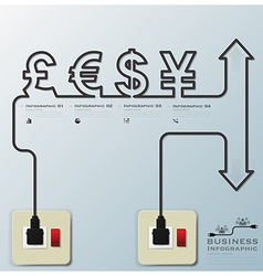 Money CurrencyElectric Line Business Infographic vector