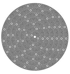 Monochromatic ethnic seamless textures vector