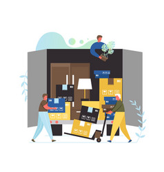 Moving company services flat style design vector