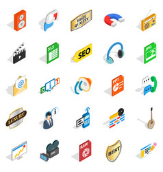 musical taste icons set isometric style vector image