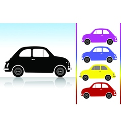 old car icon set vector image