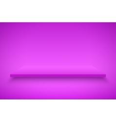 Purple Presentation platform vector image