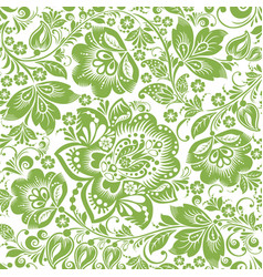 russian floral seamless pattern background vector image