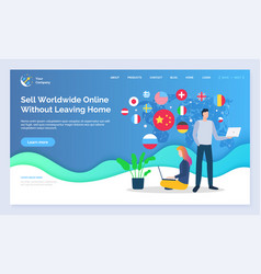 sell worldwide online without leaving home web vector image