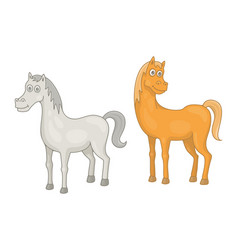 set horses vector image