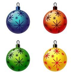Set of Christmas balls Christbaumschmuck vector