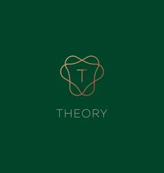Simple elegant letter t icon logotype vector