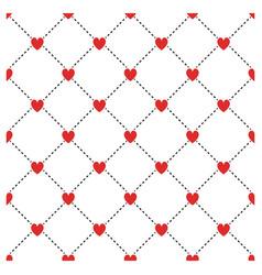 Small hearts seamless pattern symmetry rhombus vector