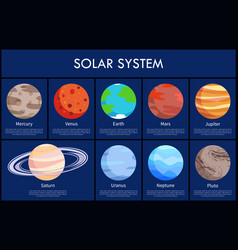 solar system and information vector image