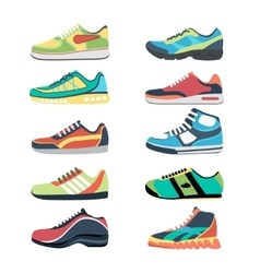 Sports shoes set vector