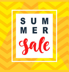Summer sale mobile banner template vector