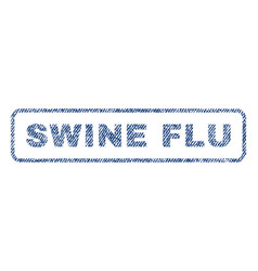 Swine flu textile stamp vector