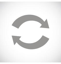 Synchronization black icon vector
