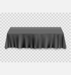 Table with tablecloth black vector