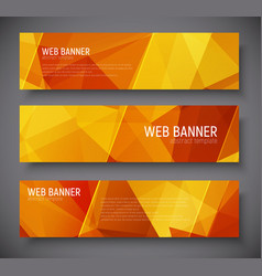 Template banners with abstract polygonal vector
