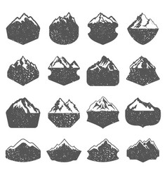 textured mountain shapes vector image