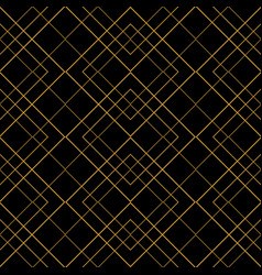Tile pattern with golden ornament frame on black vector