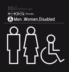 toilet restroom men women disabled handicap vector image