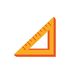 Triangle ruler angle education school icon design vector
