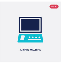 two color arcade machine icon from entertainment vector image
