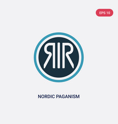 Two color nordic paganism icon from religion vector