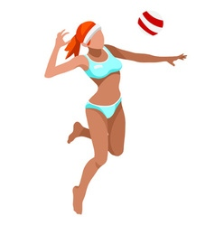 Volleyball Beach 2016 Sports 3D vector image