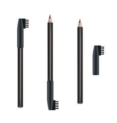 cosmetic pencil eye pencil package design vector image vector image